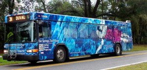 The Urban Aquifer SIRENA bus, a collaboration by Margaret Ross Tolbert, photographer Tom Morris, and Lesley Gamble.
