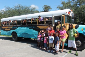 Tracy Wyman's aquiPROJECT teams up with the kids from the White Springs H.O.P.E. Program and Lesley Gamble's URBAN AQUIFER to create the first Rural Aquifer bus!