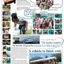 Tracy's poster for the summer 2013 partnership of aquiPROJECT, H.O.P.E. Program and URBAN AQUIFER.