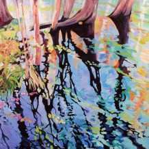 Ginnie Springs Painting by Annie Whittaker Pais