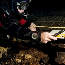 Eric Hutcheson collecting survey data. photo by Kristi Bernot