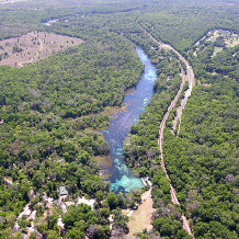 Rainbow Springs and Rainbow River Aerial View