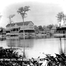 Silver Spring Hotel from across the spring. Between 1882 and 1887