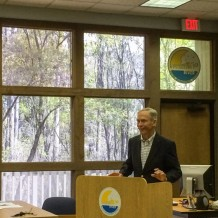 Former Florida Governor Buddy MacKay Jr. eloquently explaining the original intent of the 42 year old Minimum Flows and Levels rules at the Suwannee River Water Management District hearing on April 2, 2014.