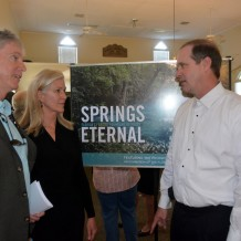 Senator Wilton Simpson, one of the co-sponsors of the SPRINGS AND AQUIFER PROTECTION ACT, was on hand to speak about recent efforts to advance springs legislation and the need for clean water. Dade City Garden Club's Springs Eternal Flower Show, March 2014.